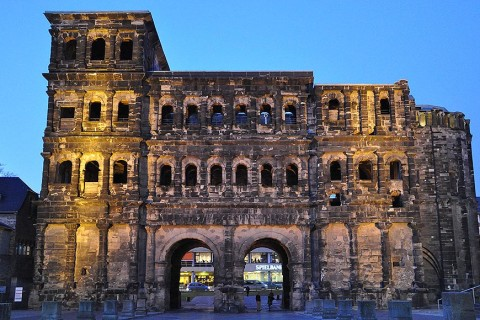 The Porta Nigra, the black city gate, in Trier.